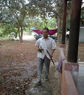 My Daddy with his sword