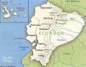 Vulkanen in het midden van Ecuador