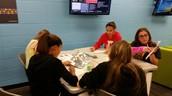 Kids work on wave museum activities!
