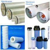 Membranes, Membrane Housing, Filter Cartridges and Filter Cartridge Housings