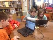 1st graders coding
