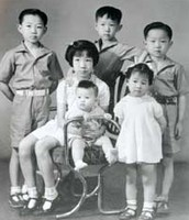 Back row, from left: Gregory, James, Edgar. Front row, from left: Lydia with baby half sister Susan, and Adeline