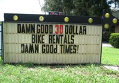 Damn Good Bikes rents the best bikes in town for the best price!