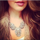 Celestial Frost Statement Necklace $148