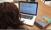 "One of my students using Bookshare! She's reading ""Ever After High: The Unfairest of Them All""."