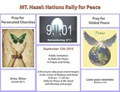 MT. HAZEL NATIONS RALLY FOR PEACE