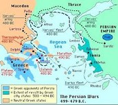 Map of Persian Invasions