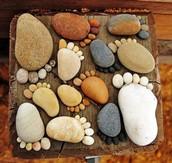 Feet made of Rocks