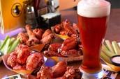 Wings and beer menu