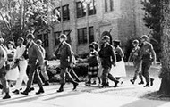 United States Army Escorts Little Rock Nine