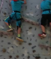 Gavin and Bryson climbing together