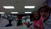 Sophie, Olivia, and Matthew's art work