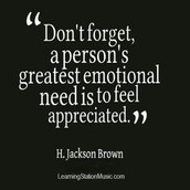 Tell people all week how much you appreciate them.