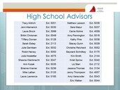 Advisor Contact Numbers