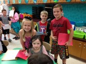 Second grade friends sharing their poems!