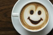 Smiley latte
