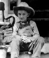 Lyndon B. Johnson as a kid age 7