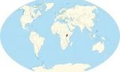 Uganda on a World Map