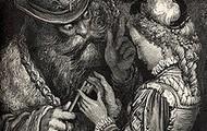 """our palms sticky as Bluebeard's."" (16)"