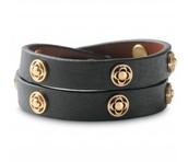 Clover Double Wrap Bracelet - Black