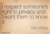 Respect your partner's privacy!