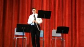 "Truman Gouldsmith earned a ""1"" rating on his flute solo and woodwind duet!"