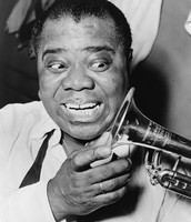 Louis Armstrong is known for his fame from playing the trumpet and cornet.