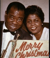 Louis Armstrong and his wife