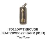 Follow Through Shadowbox Charm in Two Tone