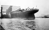 Titanic wordt gebouwt