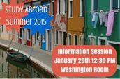Summer 2015 Info Session