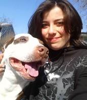 My 1st pit bull Duke and I