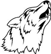 A wolf head