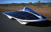 solar car absorbing solar energy