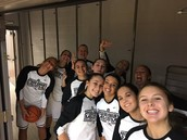 Varsity Girls Basketball Team ready to go!