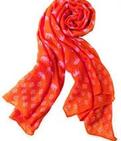 Elephant Scarf - hot pink/orange