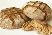 Here is bread, one of the things the Romans would have eaten.
