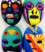 Mexican Day of the Dead Masks