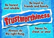 Character Trait for April:  Trust