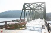 Car crash scene from movie
