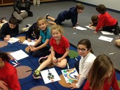 Rabbi Heller visited this week.  He talked about heroes.  Sydney, Avery, and Alexa drew their own heroes.