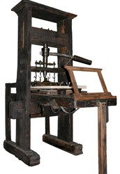 The printing press influenced educational periods in time.