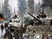 American tanks advancing