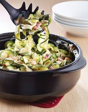 Courgette Spirals with Cheesy Garlic & Basil Sauce Recipe