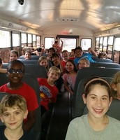 The ride back to CCES after a wonderful field trip!