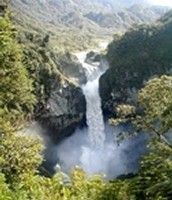 One of the biggest waterfalls in Ecuador