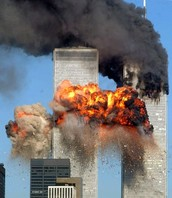 As one of the  planes hit the World Trade Center
