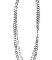 La Coco Curbchain in silver (Also available in gold)