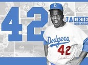 Jackie played for the Dodgers and was number 42