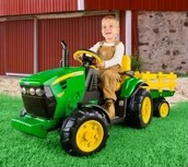 As your son gets older, they can upgrade to the Motorized Tractor!